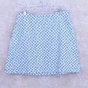 J.Jill Little Fish Nautical Jersey A Line Skirt
